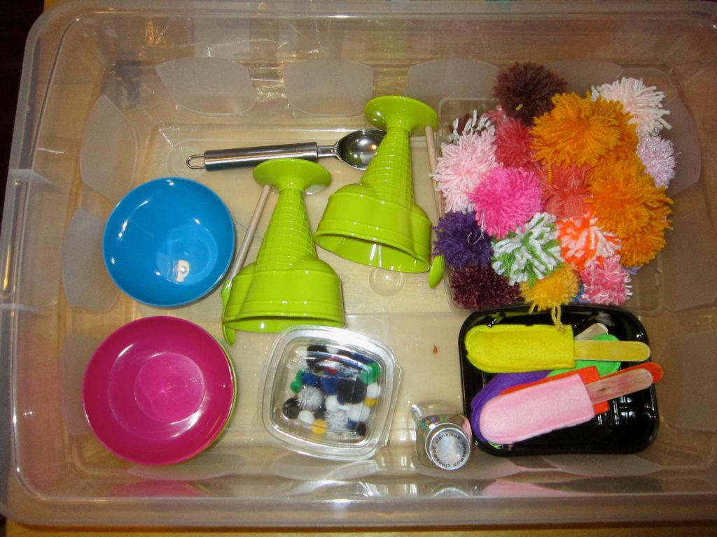 Ice-cream sensory box