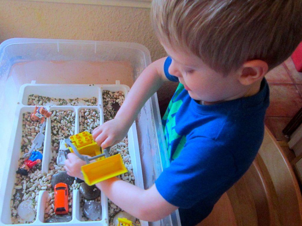 Construction sensory box