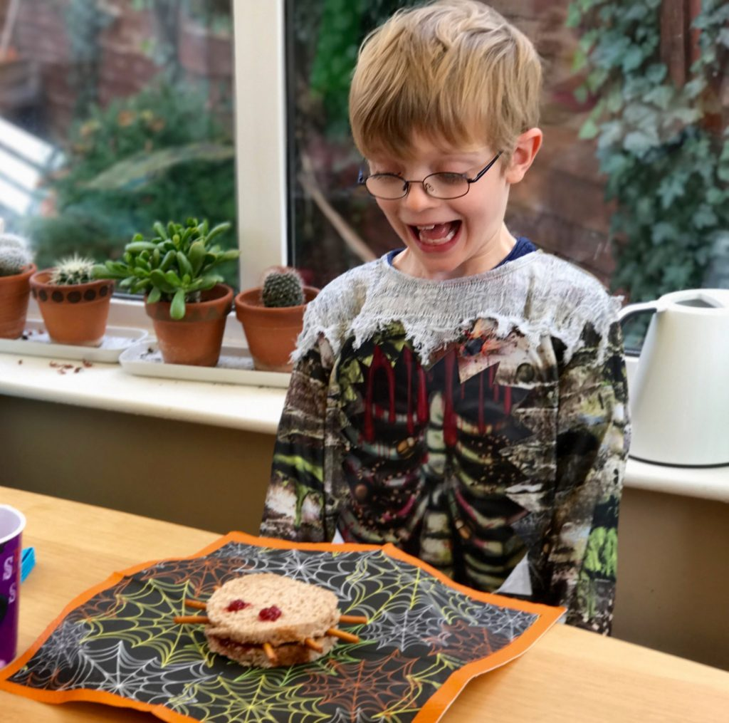 Simple Halloween Activities - Spider Sandwiches