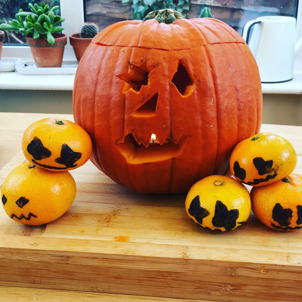 Simple Halloween Activities - Satsuma Pumpkins