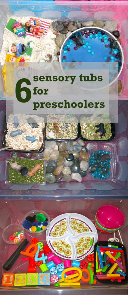 6 sensory tubs for preschoolers