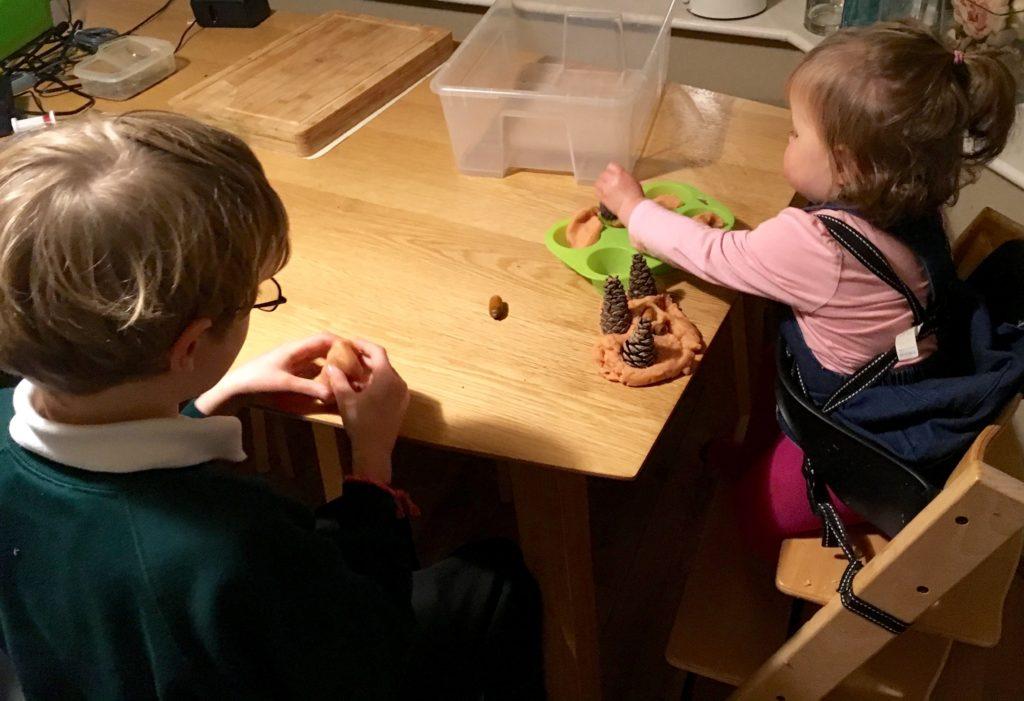 Autumn Sensory Play- Play Dough