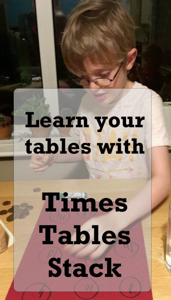 Times table stack - a game for practising times tables