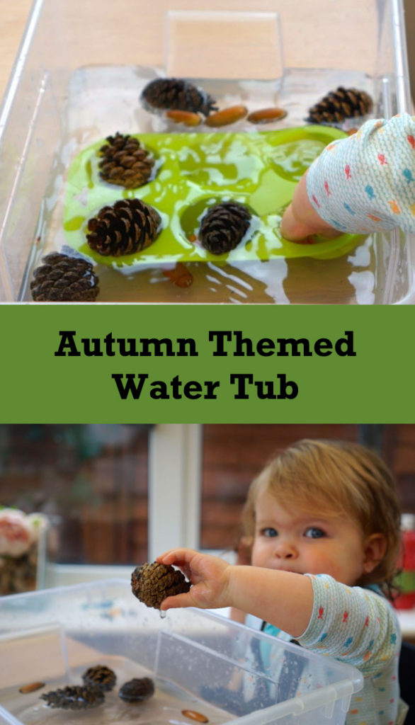 Autumn Sensory Play - water - an easy autumn activity for toddlers and beyond.
